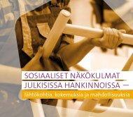 Julkaisu: Sosiaaliset näkökulmat julkisissa hankinnoissa - Espinno