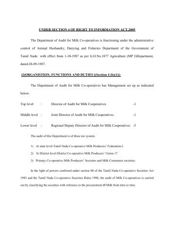 UNDER SECTION 4 OF RIGHT TO INFORMATION ACT,2005 The ...