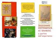insegnare matematica ai bambini - Università degli Studi Roma Tre
