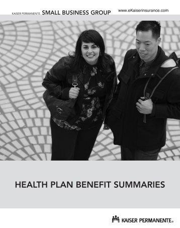2011 Small Group Health Benefit Plan Summaries booklet - Kaiser ...