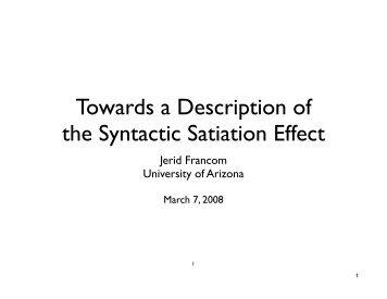Student Showcase - 2008.key - University of Arizona