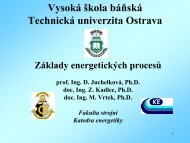 energie - Vysoká škola báňská - Technická univerzita Ostrava
