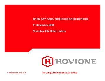Open Day Fornecedores Ibéricos, 17.Set.2004, Lisboa - Hovione
