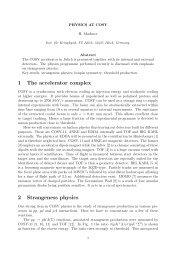 H. Machner PHYSICS AT COSY