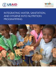 integrating water, sanitation, and hygiene into nutrition ... - WASHplus