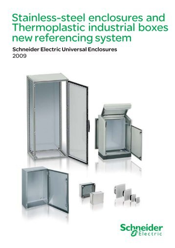 Stainless-steel and Thermoplastic Universal ... - Schneider Electric