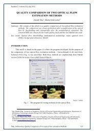 Quality Comparison of two optical flow estimation Methods