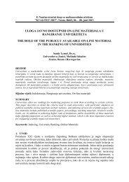 Uloga javno dostupnih on-line materijala u rangiranju univerziteta