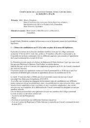 Conseil consultatif des Aînés du 26 février 2013 - Stavelot