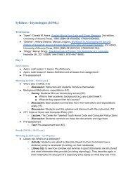 Etymologies (ETYM) CTY Course Syllabus