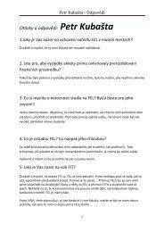Otázky a odpovědi: Petr Kubašta