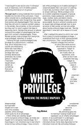 WHITE PRIVILEGE - NO BORDERS