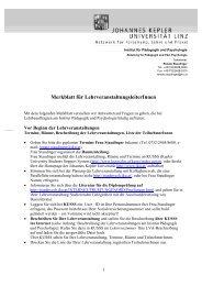 Merkblatt für LV-LeiterInnen (pdf 48kb) - Pädagogik und ...