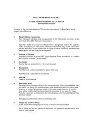 Rules for 7-asides - Scottish Football Association