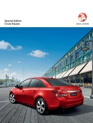 Special Edition Cruze Equipe - Holden