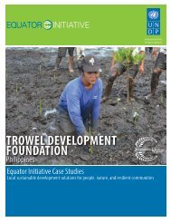 Trowel Development Foundation, Philippines - Equator Initiative