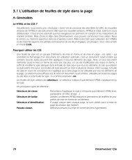 3.1 L'utilisation de feuilles de style dans la page - Decitre