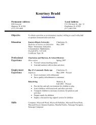My Resume - Eastern Illinois University