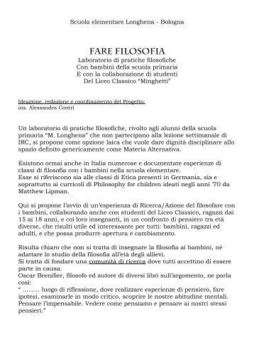 FARE FILOSOFIA.pdf - Scuola Primaria Longhena
