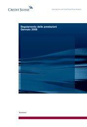 Regolamento delle prestazioni Gennaio 2008 - Pensionskasse