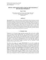 monte carlo burnup simulation of the takahama-3 benchmark ...
