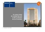 Un nuevo hotel de calidad Barceló a sólo 5 minutos de las Pirámides