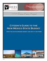 Citizen's Guide to the New Mexico State Budget Citizen's Guide to ...