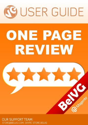 One Page Review User Guide - BelVG Magento Extensions Store