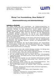 Ü08 - Institut für Wirtschaftsinformatik und neue Medien