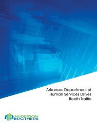 Arkansas Department of Human Service Drives Booth Traffic