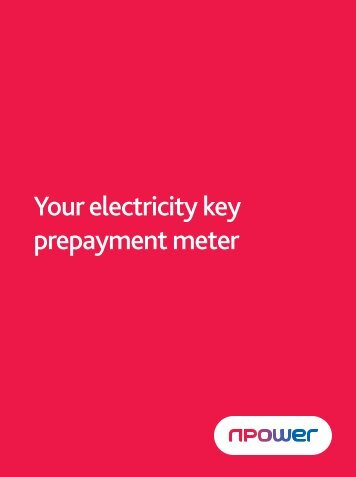 Your electricity key prepayment meter - Npower