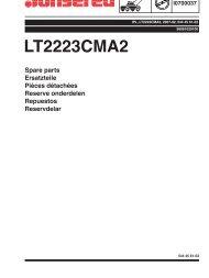 IPL, LT2223CMA2, 96061020100, 2007-02, Tractor - Jonsered