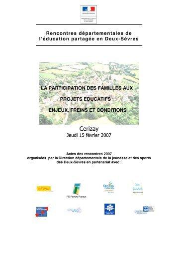 Rencontres départementales de l'éducation partagée - Ressources ...