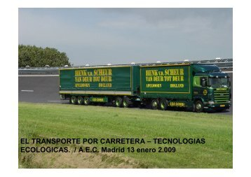EL TRANSPORTE POR CARRETERA – TECNOLOGIAS ...