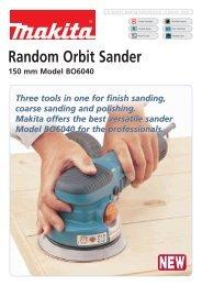 Random Orbit Sander - Makita