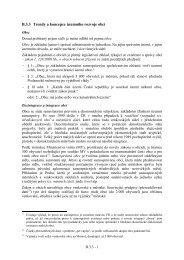 B.3.3 Koncepce územního rozvoje a jejich trendy a na úrovni obcí