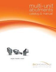 Multi-unit abutments - BioHorizons