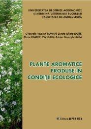 Plante aromatice.pdf - Facultatea de Agricultură