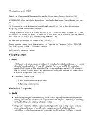 Begripsbepalingen Artikel 1 Hoofdstuk I. Vergoeding Artikel 2