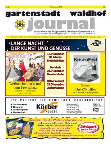 Gartenstadt Waldhof Journals - Stadtteil-Portal Mannheim