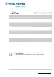 en VOGEL Model: WTS - Pumpenfabrik Ernst Vogel