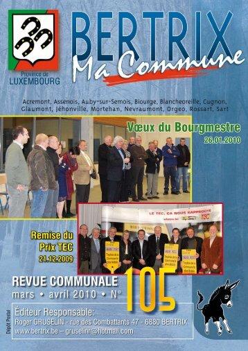 Revue Communale de Bertrix n° 105