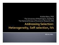 Anirban Basu, PhD The University of Washington ... - CC-ARCC