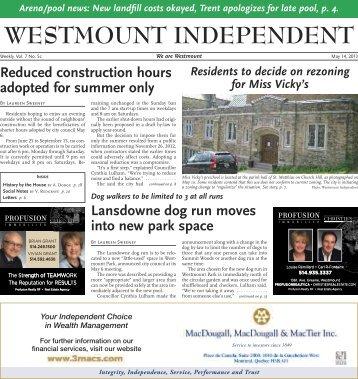 May 14 - Westmount Independent