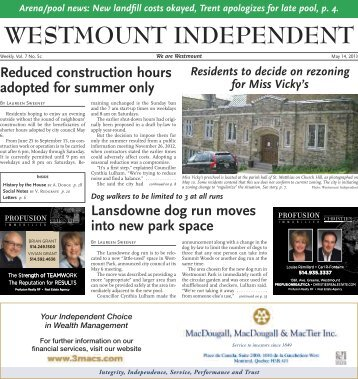 May 14 - Westmount Independent