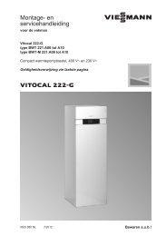 Montage- en service-handleiding Vitocal 222-G14.8 MB - Viessmann