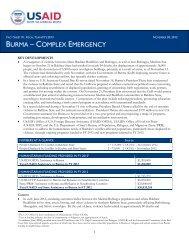 BURMA – COMPLEX EMERGENCY - ReliefWeb