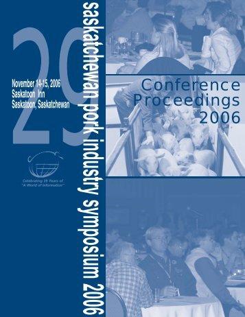 Conference Proceedings 2006 - SaskPork