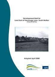 Land East of Parsonage Lane, South Molton - North Devon District ...