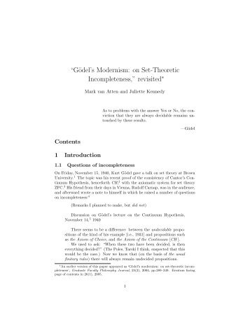 """Gödel's Modernism: on Set-Theoretic Incompleteness,"" revisited"